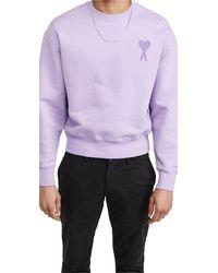 AMI De Coeur Sweatshirt - Purple