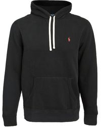 Polo Ralph Lauren Long Sleeve Fleece Knit - Black