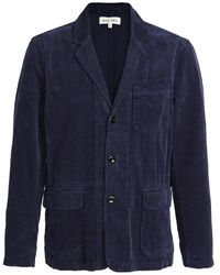 Alex Mill Rugged Corduroy Mill Blazer - Blue