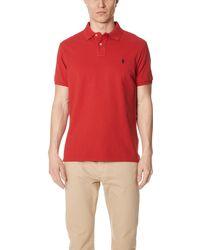 Polo Ralph Lauren Custom Slim Fit Polo Shirt - Red