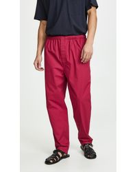 Lemaire Elasticated Pants - Red