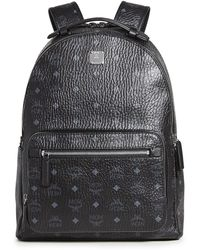 MCM Stark Visetos Backpack - Black
