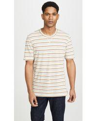 Billy Reid - Striped T-shirt - Lyst
