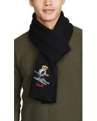 Polo Ralph Lauren Polo Ski Bear Scarf - Black