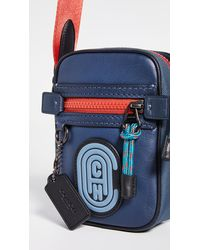 COACH Dylan 10 In Colorblock With Patch - Blue