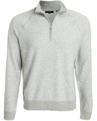 Vince Birdseye Quarter Zip Pullover - Grey