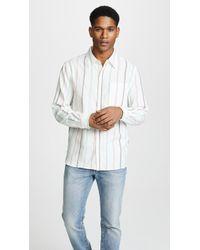 Saturdays NYC - Mickey Stripe Long Sleeve Shirt - Lyst