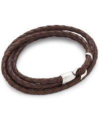 Miansai Trice Woven Leather Wrap Bracelet Lyst