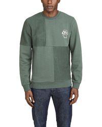 A.P.C. X Brain Dead Logo-print Cotton Sweatshirt - Green