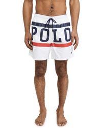 Polo Ralph Lauren Printed Swim - White