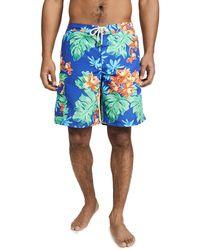 Polo Ralph Lauren Floral Swim Trunks - Blue