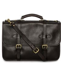 Lotuff Leather - Bound-edge English Briefcase - Lyst