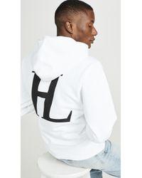 Helmut Lang Big Logo Standard Pullover Hoodie - White
