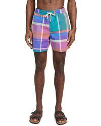 Polo Ralph Lauren Printed Swim Trunks - Multicolor