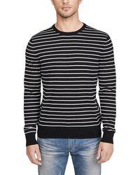 Calvin Klein Long Sleeve Solid Liquid Crew Neck Sweater - Black