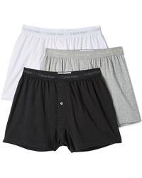 Calvin Klein Cotton Classic 3 Pack Knit Boxers - Black