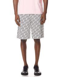 MSGM - Allover Print Shorts - Lyst
