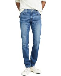 PAIGE Lennox Slim Jeans In Mullholland Wash - Blue