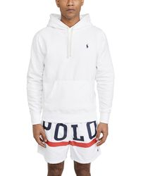 Polo Ralph Lauren Long Sleeve Fleece Sweatshirt - White