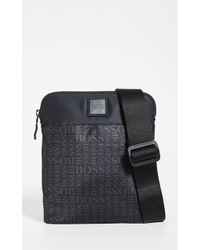 BOSS Lighter Nylon Small Crossbody Bag - Black