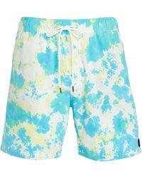 RVCA Manaic Elastic Shorts - Blue