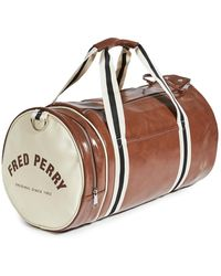Fred Perry Classic Barrel Bag - Brown