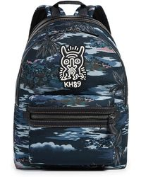 COACH - X Keith Haring Cordura Monster Mixed Material Backpack - Lyst