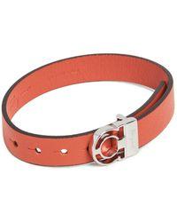 Ferragamo Gancini Buckle Bracelet - Orange
