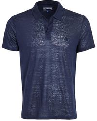 Vilebrequin Linen Jersey Polo Shirt - Blue