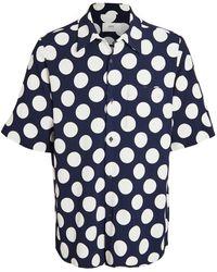 AMI Polka Dot Printed Shirt - Blue