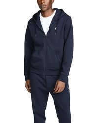Polo Ralph Lauren Double Knit Full Zip Hoodie - Blue