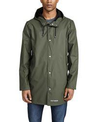 Stutterheim Stockholm Lightweight Raincoat - Green