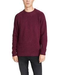Carhartt WIP Flecked Knit Jumper - Purple