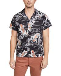 Naked & Famous - Koi Fish Aloha Shirt - Lyst