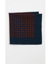 Polo Ralph Lauren - Heritage Challis Neat Pocket Square - Lyst