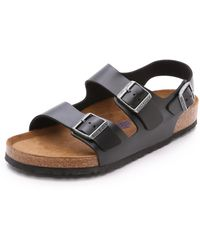 Birkenstock Milano Soft Footbed Sandal - Black