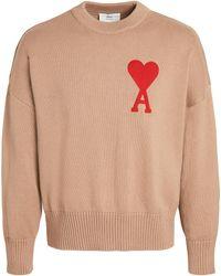 AMI - Oversize De Coeur Sweater - Lyst