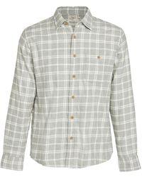 Faherty Brand Stretch Sweaview Flannel Shirt - Grey