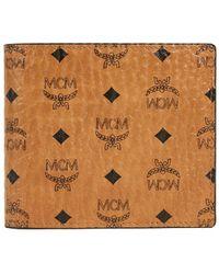 MCM Men's Visetos Original Flap Bi-fold Wallet - Brown