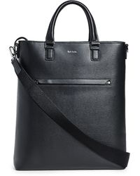 Paul Smith City Black Leather Tote