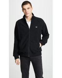 Fred Perry - Fleece Track Jacket - Lyst