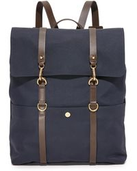 Mismo Navy / Dark Brown M/s Backpack - Blue