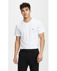 Lacoste - Short Sleeve Henley Shirt - Lyst