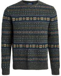 Polo Ralph Lauren Fair Isle Wool Jumper - Grey