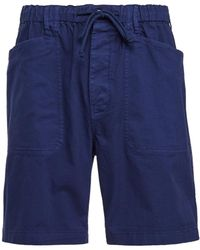 Alex Mill Button Fly Shorts In Stretch Chino Shorts - Blue