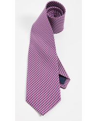 Ferragamo Dolphin Print Classic Tie - Purple