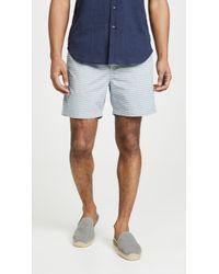 J.Crew Dobby Stripe Stretch Dock Shorts - Blue