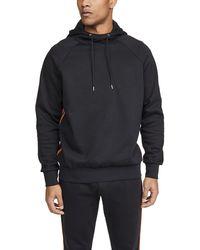 Paul Smith Multi Stripe Pullover Hoodie - Black