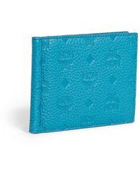 MCM Tivitat Leather Money Clip - Blue