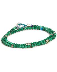 Mikia 4mm Beads Double Wrap Bracelet - Green